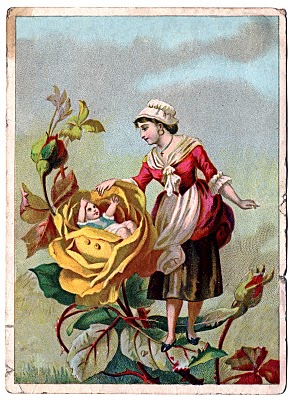Victorian Clip Art Lady With Rose Baby The Graphics Fairy
