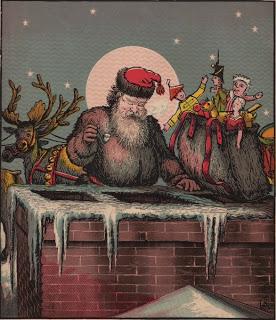 Victorian Santa Antique Clip Art Image The Graphics Fairy