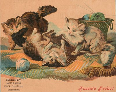 Black Animal Print Wallpaper Free Victorian Clip Art Cats With Yarn The Graphics Fairy