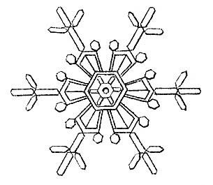 vintage clip art - 3 cute snowflakes