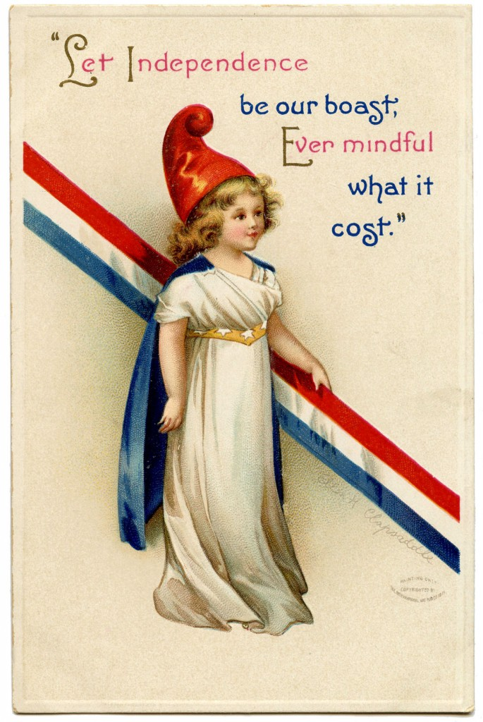 Free Vintage Patriotic Image Cute Girl The Graphics Fairy