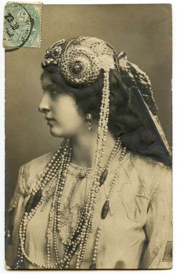 Art Nouveau Lady with Jewelry