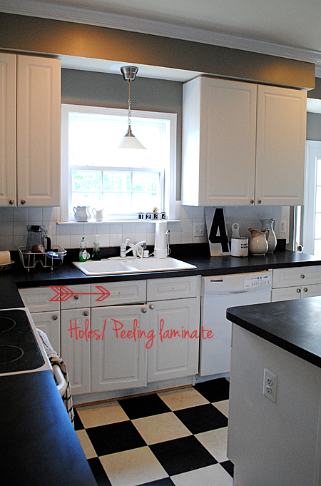 metal kitchen trash can bi fold cabinet doors revamp with home depot - before pics & huge ...