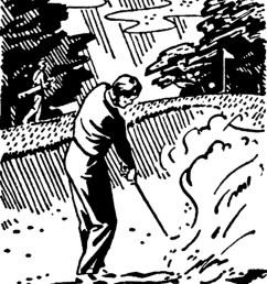retro golf images black and white clip art [ 1500 x 1833 Pixel ]