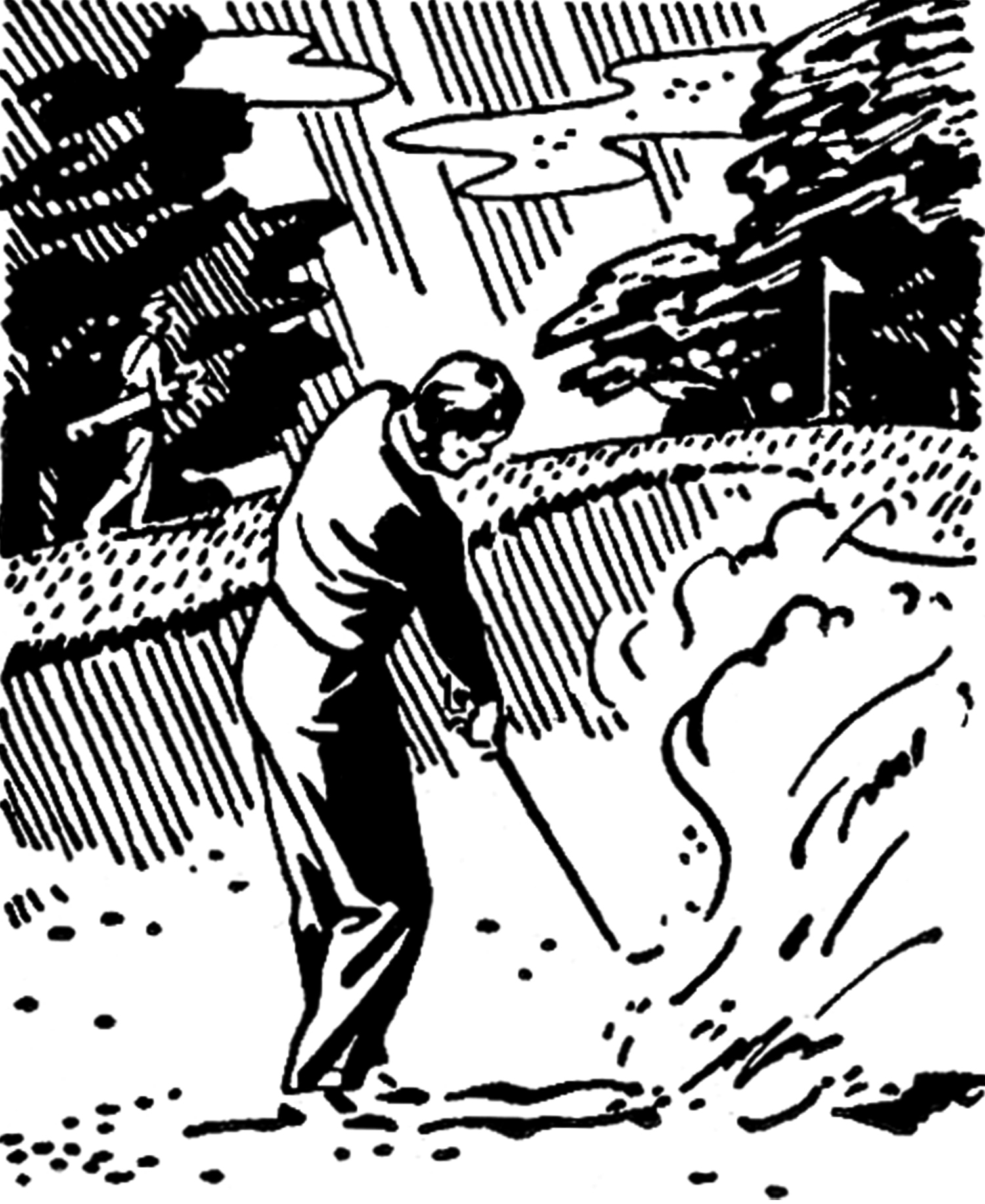 hight resolution of retro golf images black and white clip art