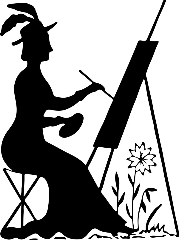 Silhouette Stock Image Lady Painting The Graphics Fairy
