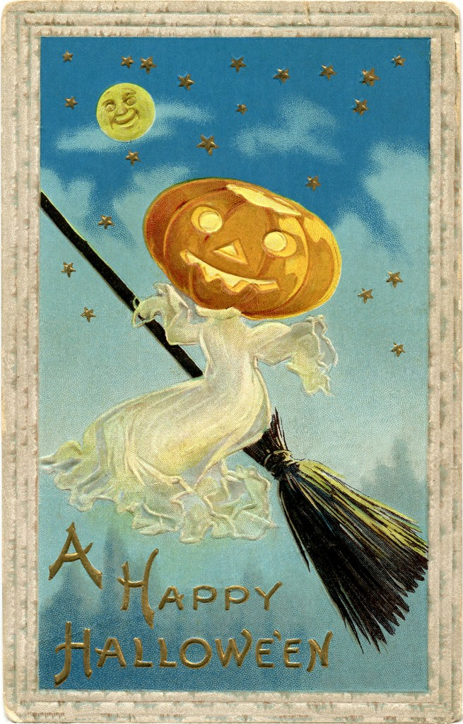 Vintage Halloween Image Free Ghost The Graphics Fairy