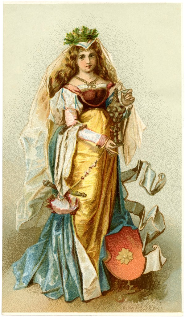 Medieval Lady - Graphics Fairy