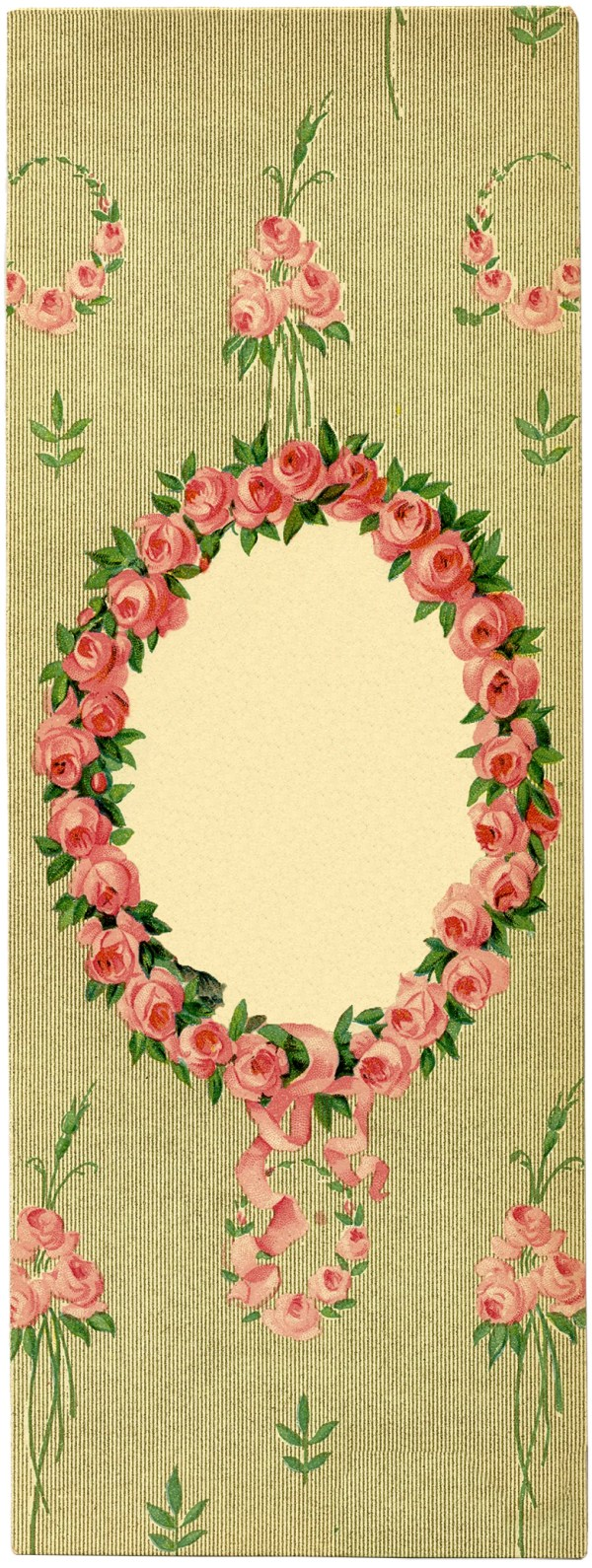 romantic lady with floral frame