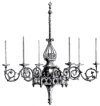 Vintage Gothic Chandelier Image - The Graphics Fairy