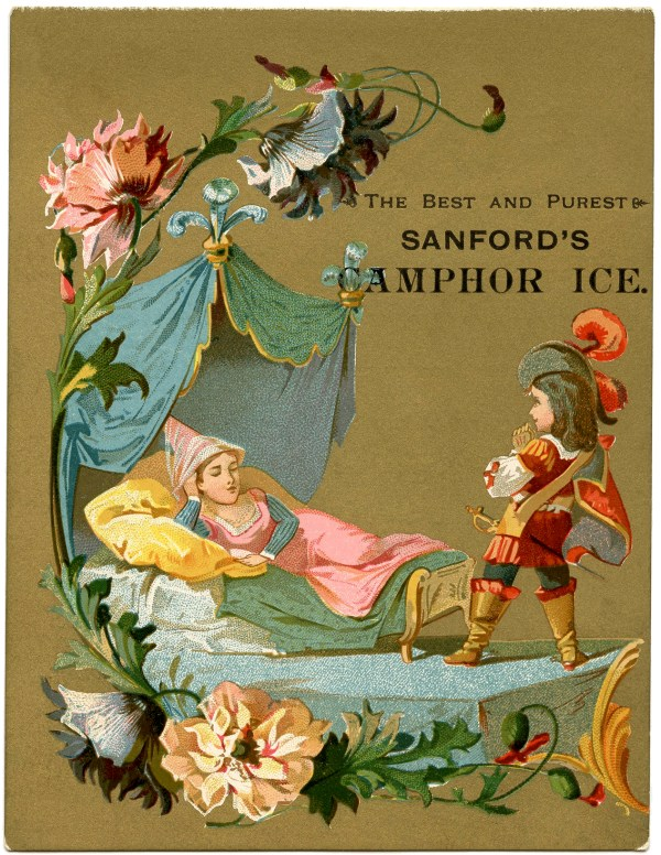 Vintage Sleeping Beauty Illustration - Graphics Fairy