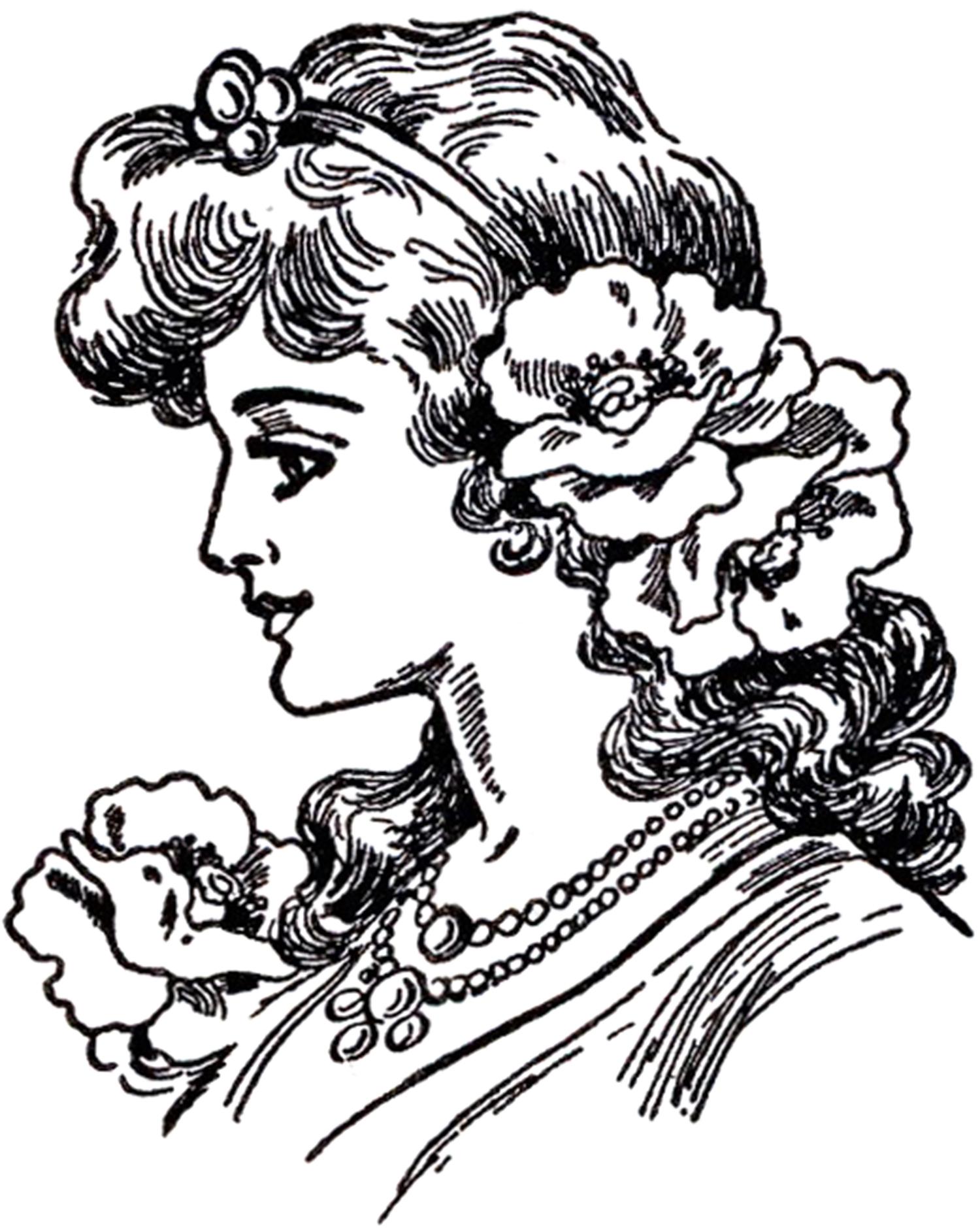 Art Nouveau Lady Images