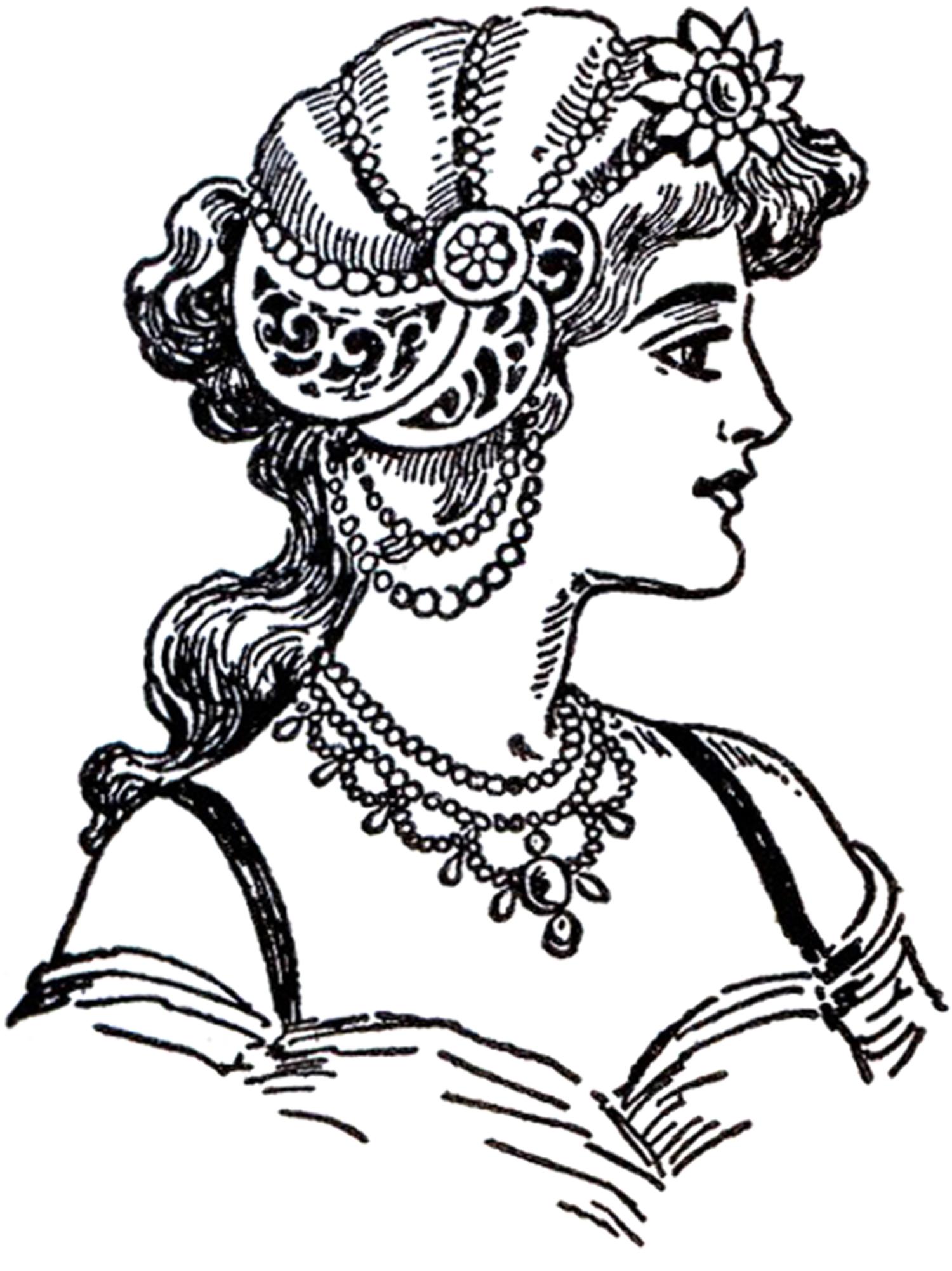 Art Nouveau Ladies GraphicsFairy3 The Graphics Fairy