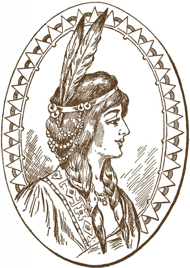 Native American Woman Clip Art  The Graphics Fairy