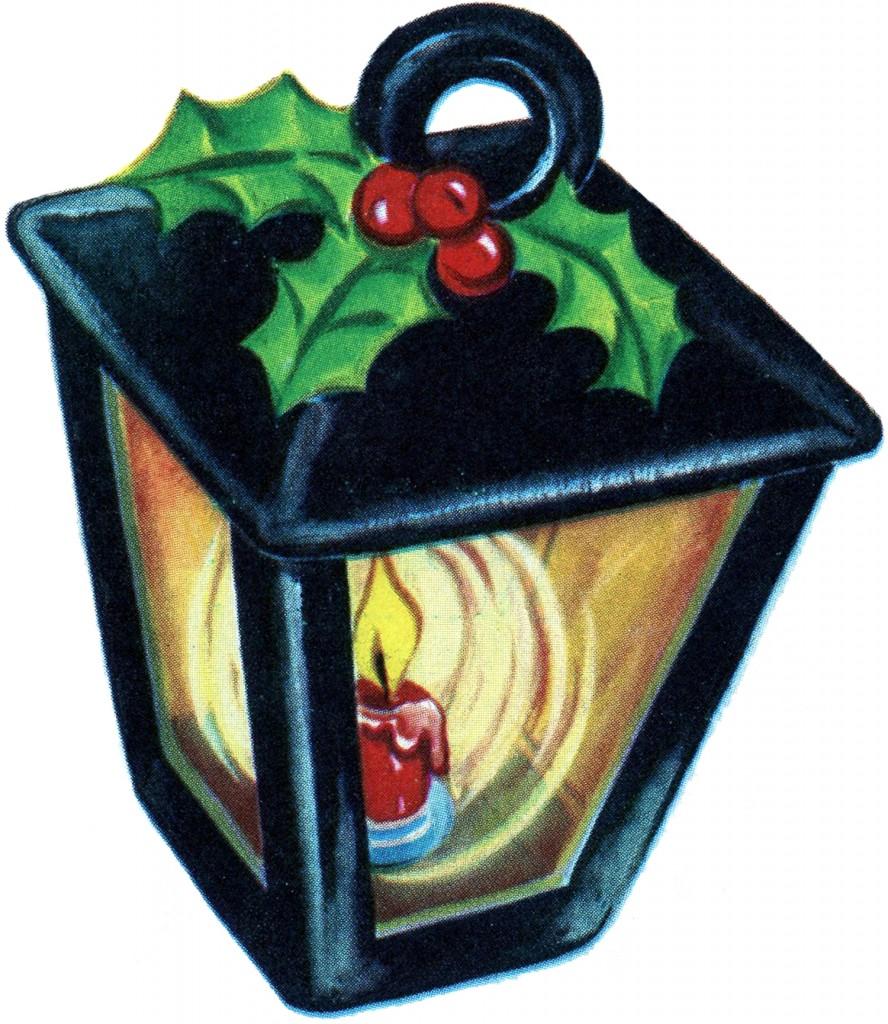 Retro Christmas Lantern Image The Graphics Fairy