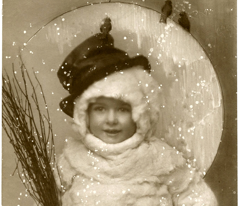 Vintage Snowman Image Funny Old Photo The Graphics Fairy