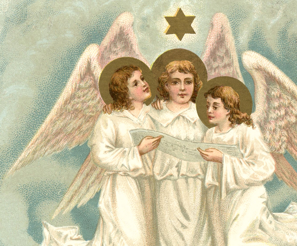 Christmas Angels Image The Graphics Fairy
