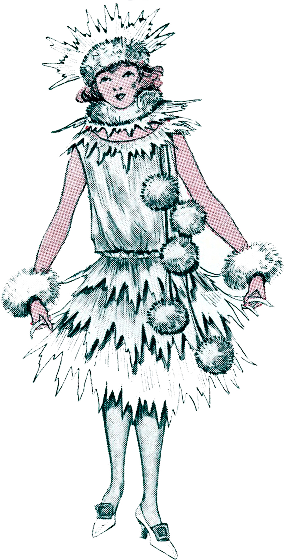 Christmas Snowball Costume The Graphics Fairy
