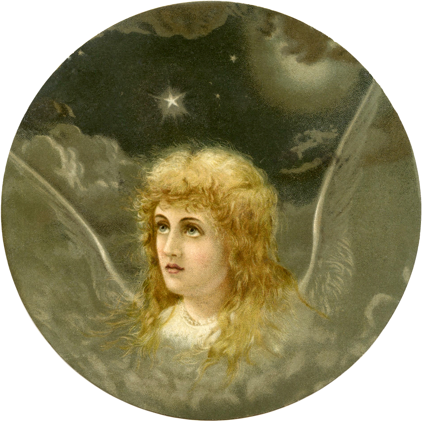 Beautiful Christmas Eve Angel Image The Graphics Fairy
