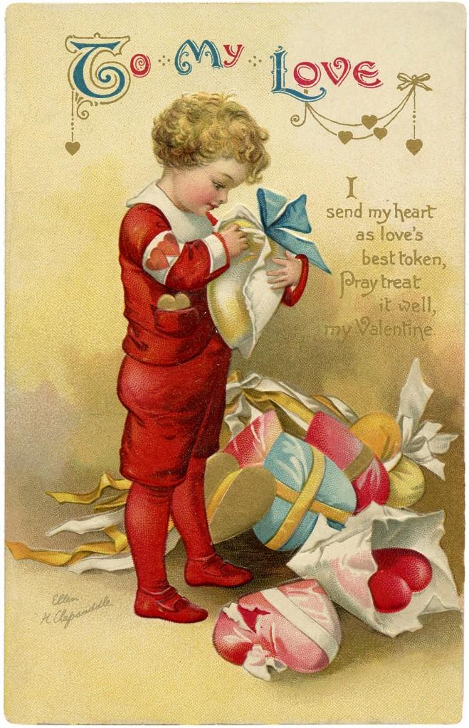 Charming Ellen Clapsaddle Valentine The Graphics Fairy