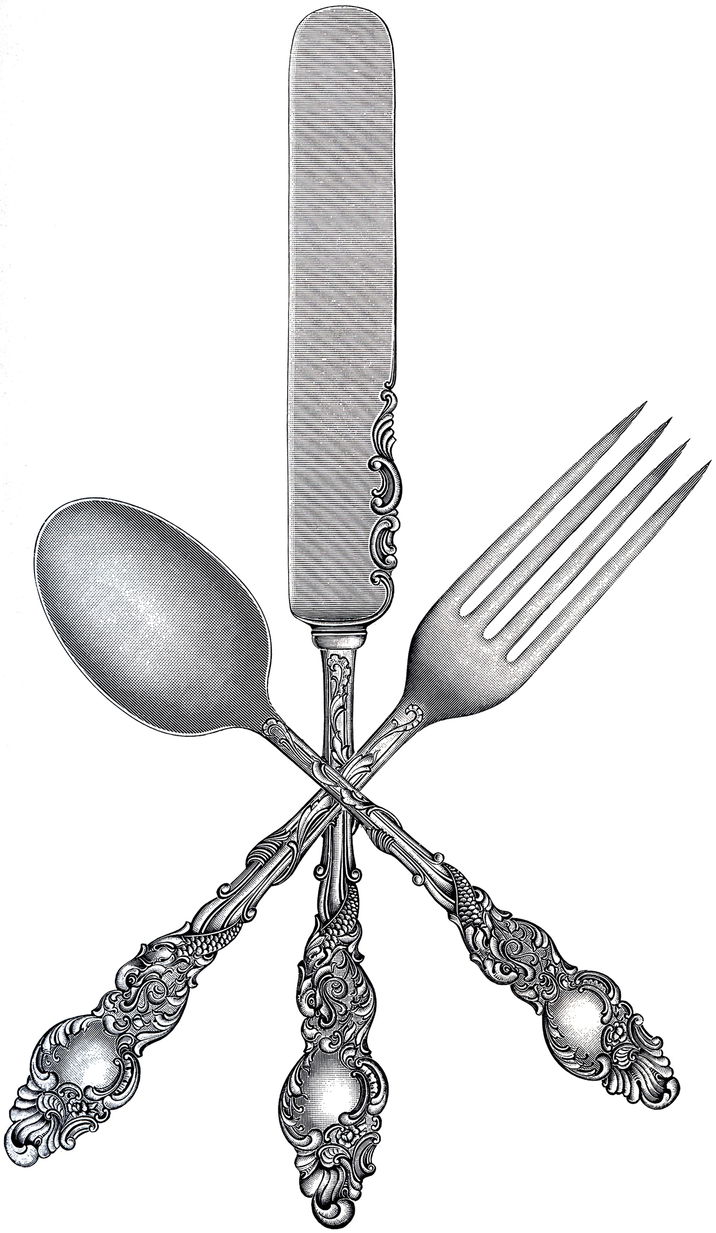 hight resolution of free fork spoon knife clip art