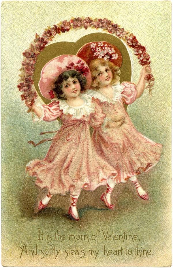 Free Vintage Valentine - Graphics Fairy