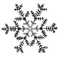 Three fabulous free snowflakes clip art images these lovely snowflakes