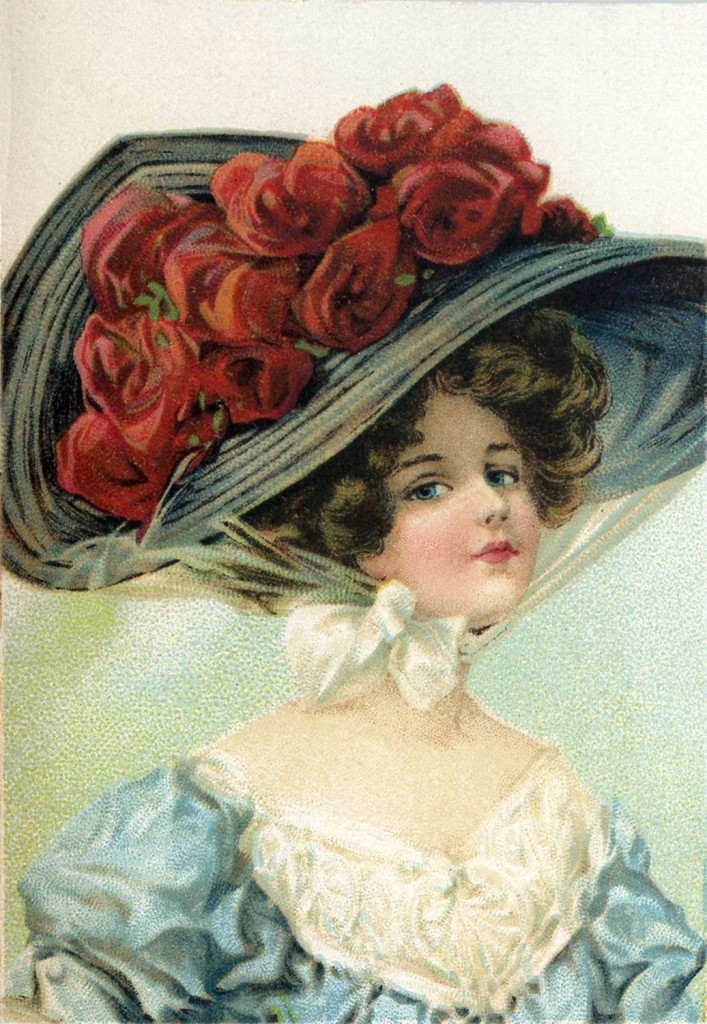 Victorian Hat Lady Image The Graphics Fairy