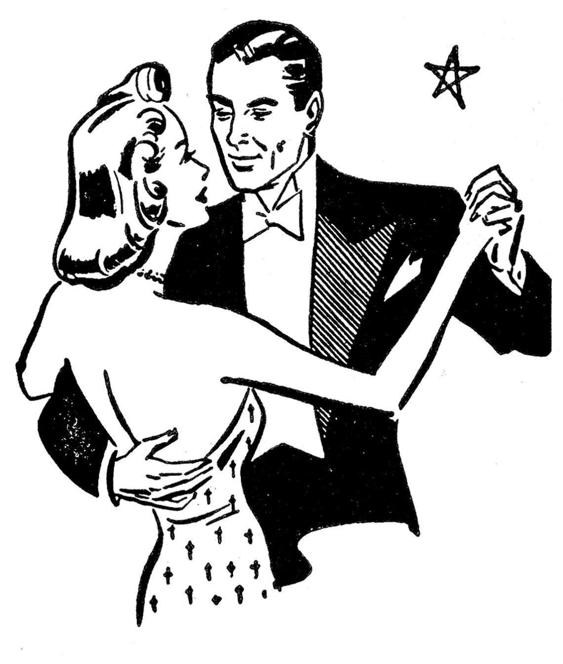 Download dancing-couple-vintage-GraphicsFairy | Couple dancing
