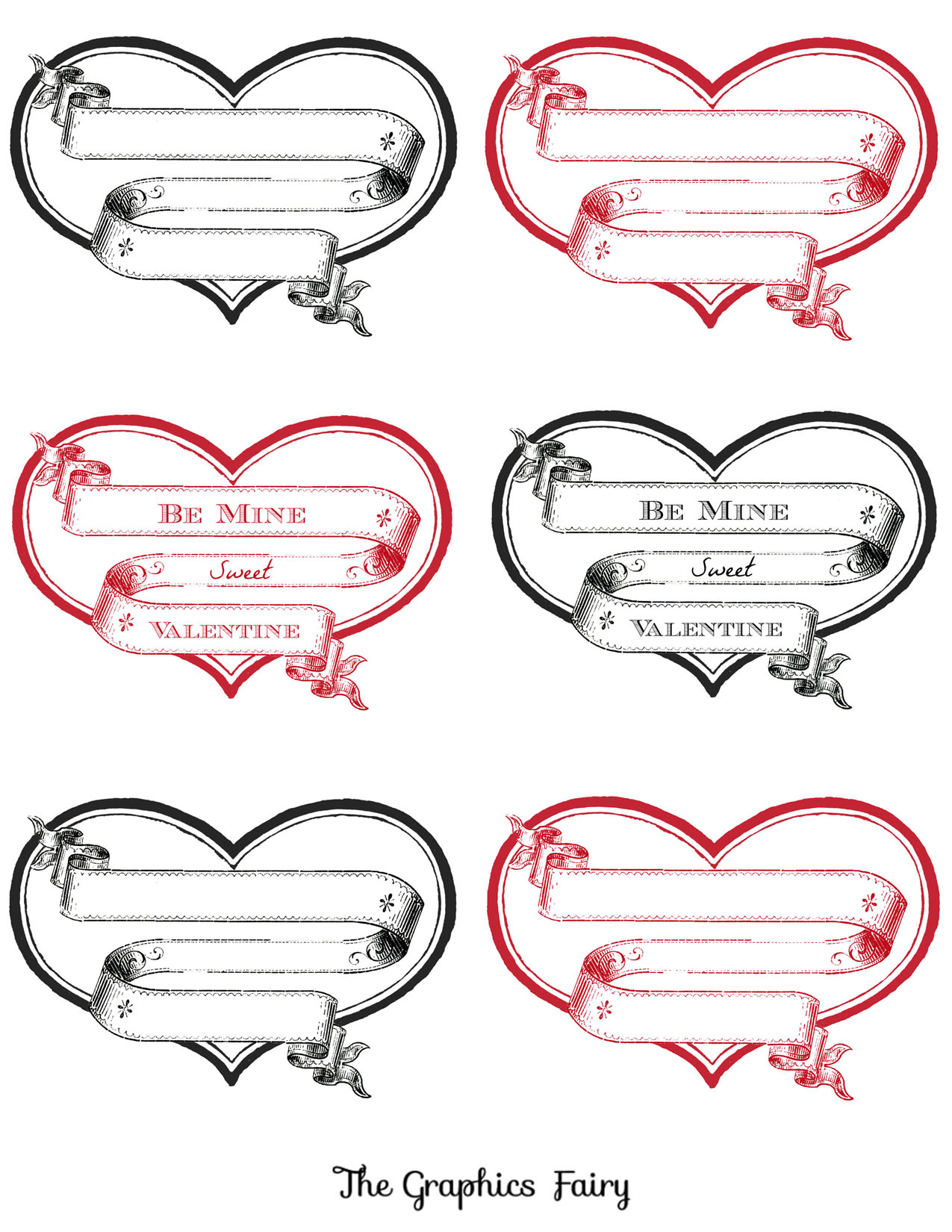 Free Printable Heart Labels