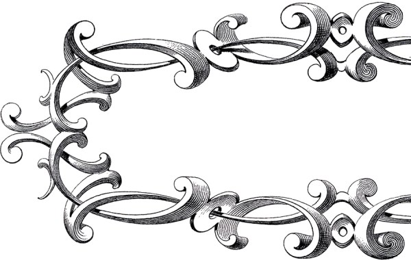 free victorian frame clip art