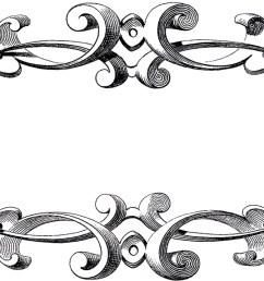 free victorian frame clip art [ 1500 x 572 Pixel ]