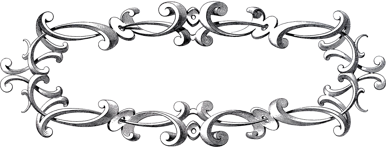 hight resolution of free victorian frame clip art