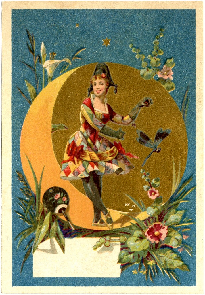 Harlequin Lady Dancer Image The Graphics Fairy