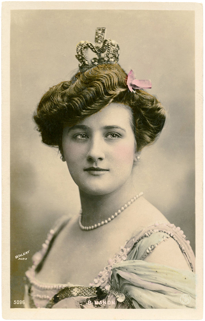 Vintage Lady With Crown Photo The Graphics Fairy