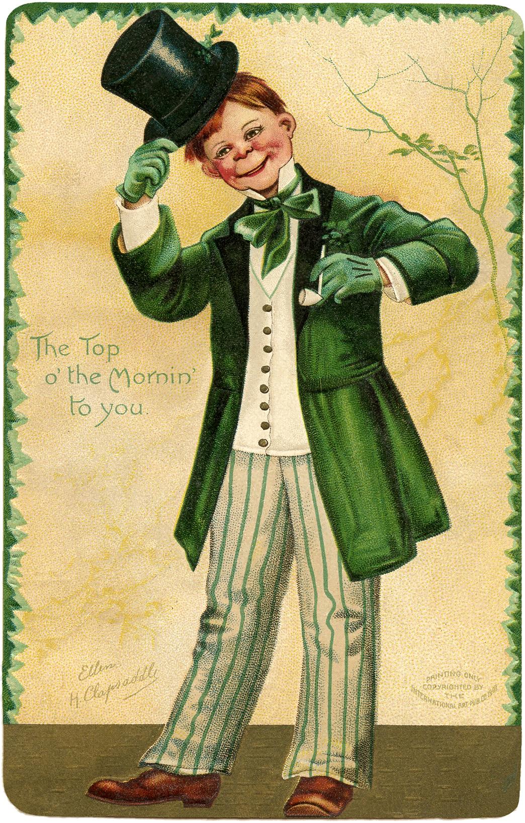 Vintage Redhead Irishman Image The Graphics Fairy