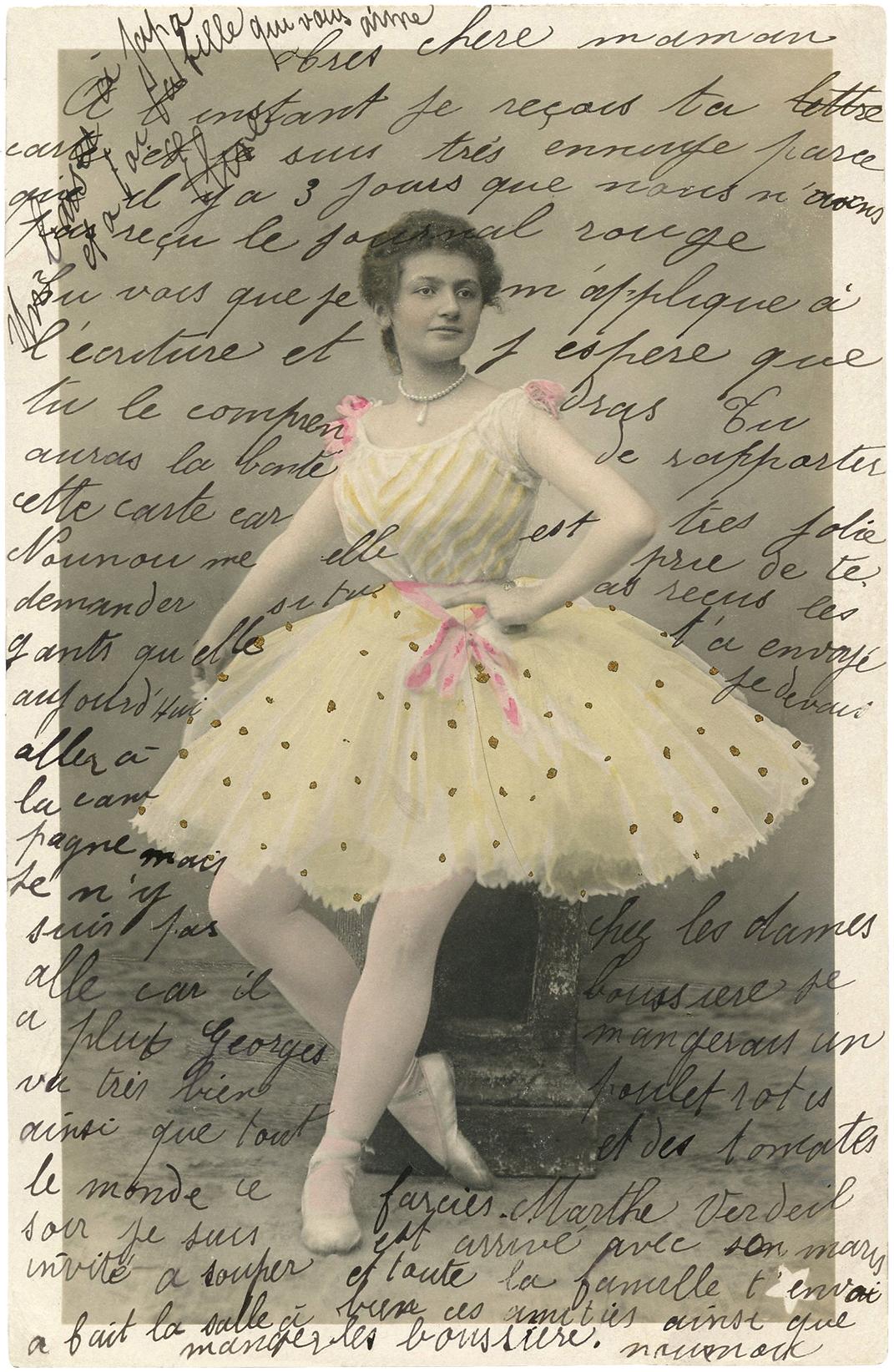 Vintage Ballerina Ephemera Handwriting The Graphics Fairy