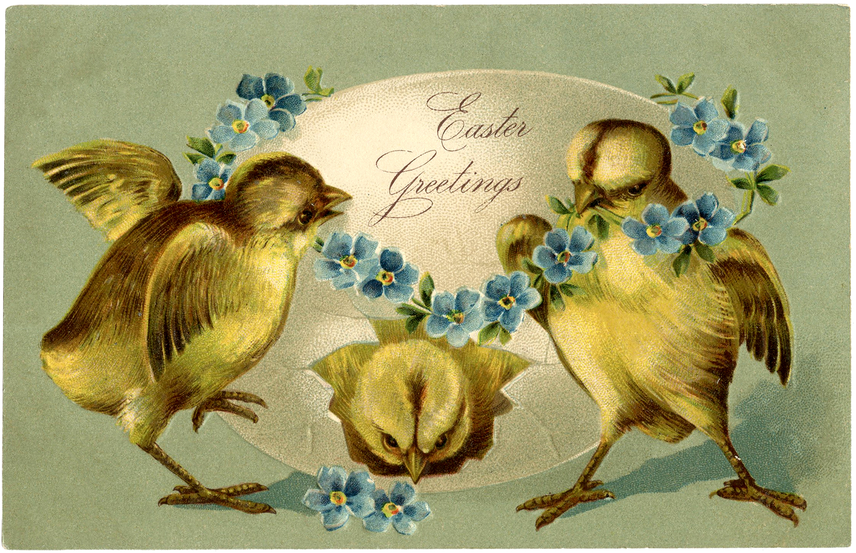 Vintage Easter Chicks Image Adorable! The Graphics Fairy