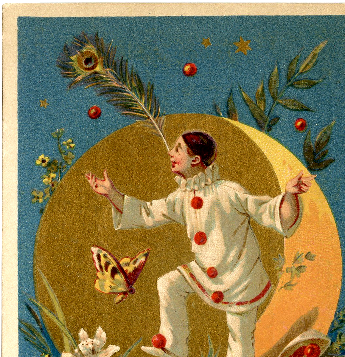Vintage Pierrot Clown Image  The Graphics Fairy