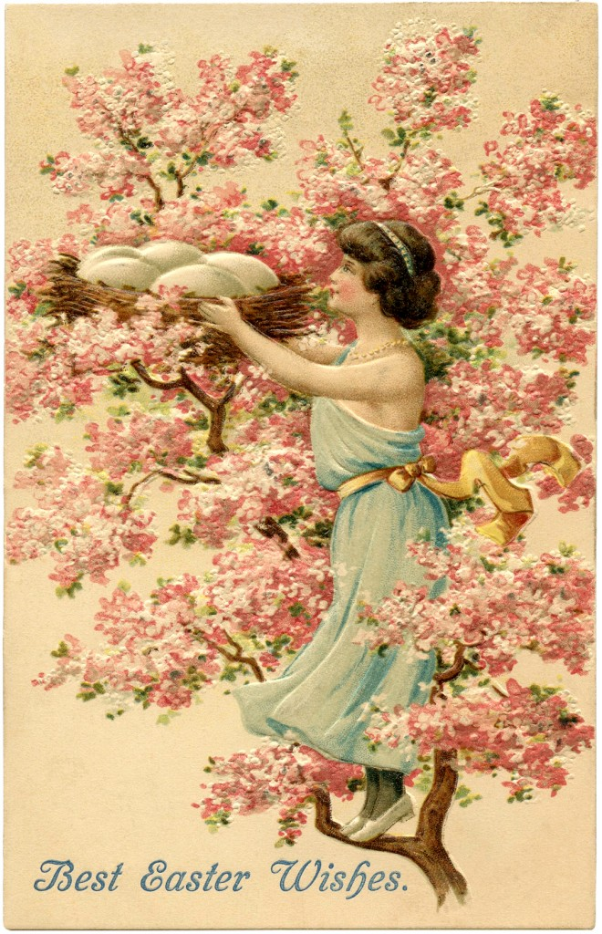 Pretty Cherry Blossom Nest Image Easter The Graphics Fairy