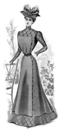 Ladies Fashion Visiting Costume - The Graphics Fairy