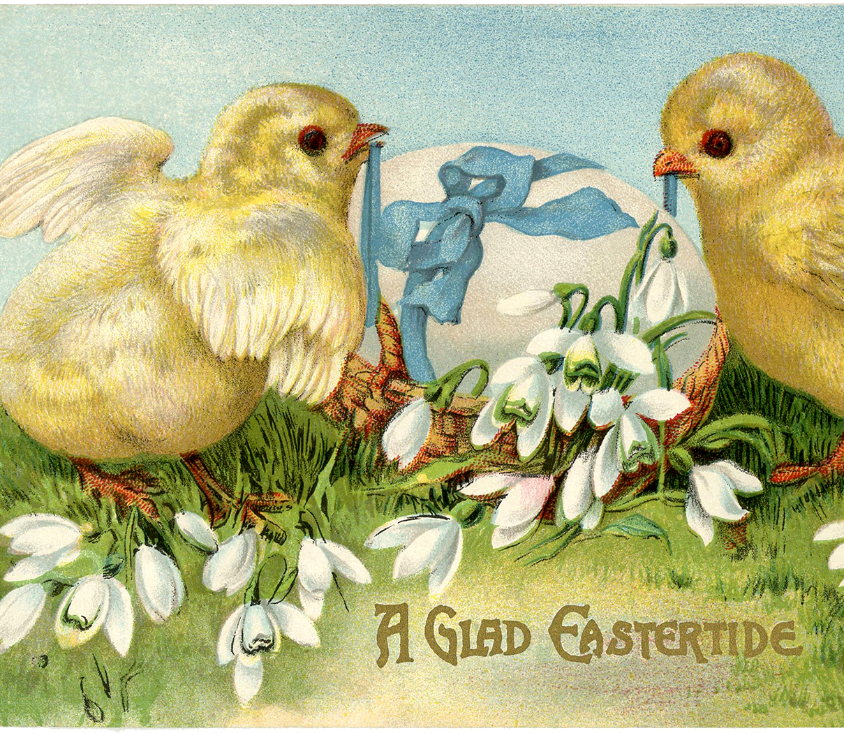 Vintage Easter Card Adorable Peeps! The Graphics Fairy