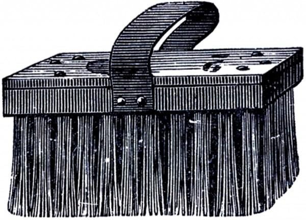 vintage scrub brush clip art
