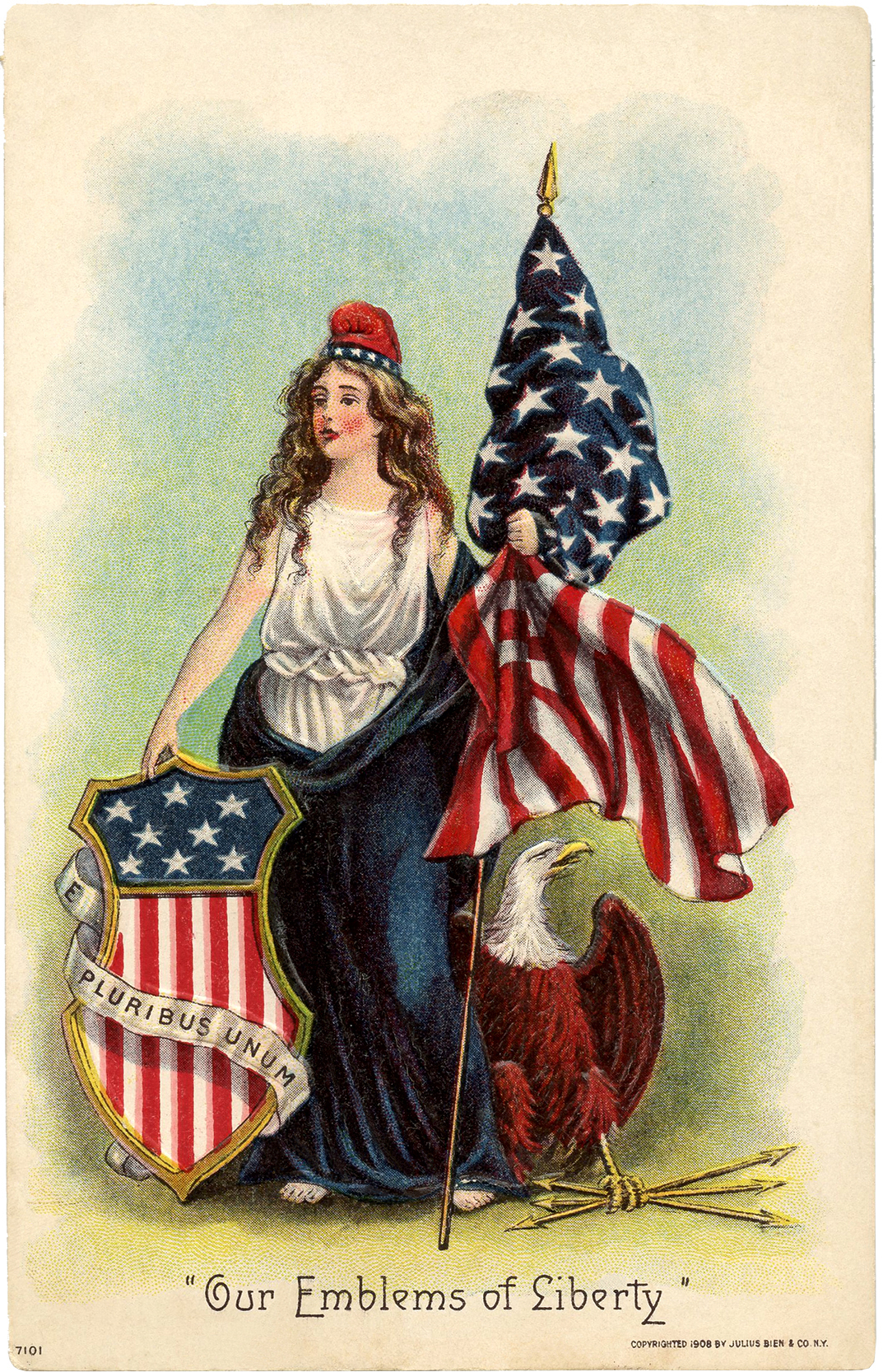 Nice Girl Wallpaper Vintage Lady Liberty Clip Art The Graphics Fairy