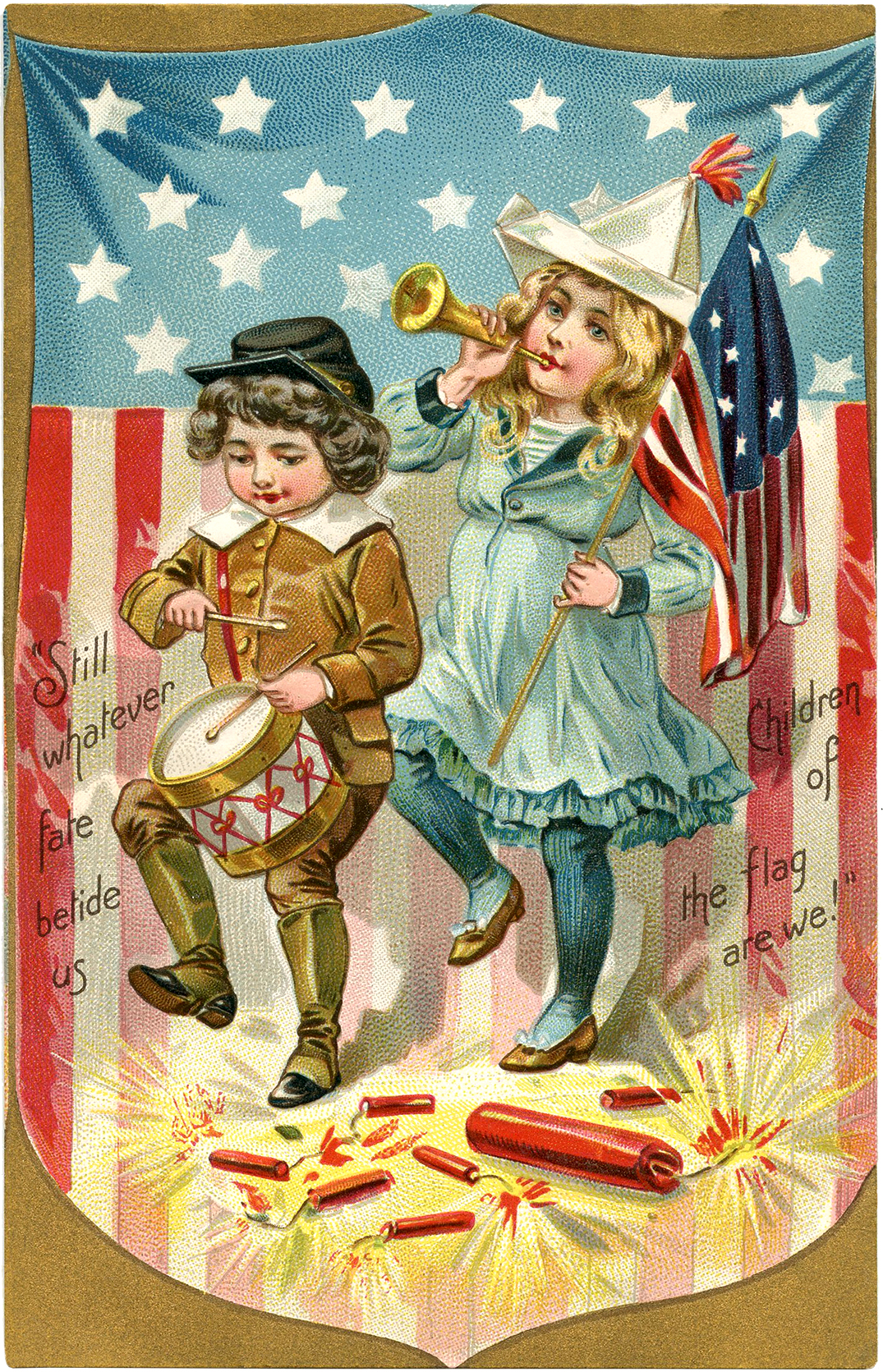 Vintage Patriotic Postcard Image! The Graphics Fairy