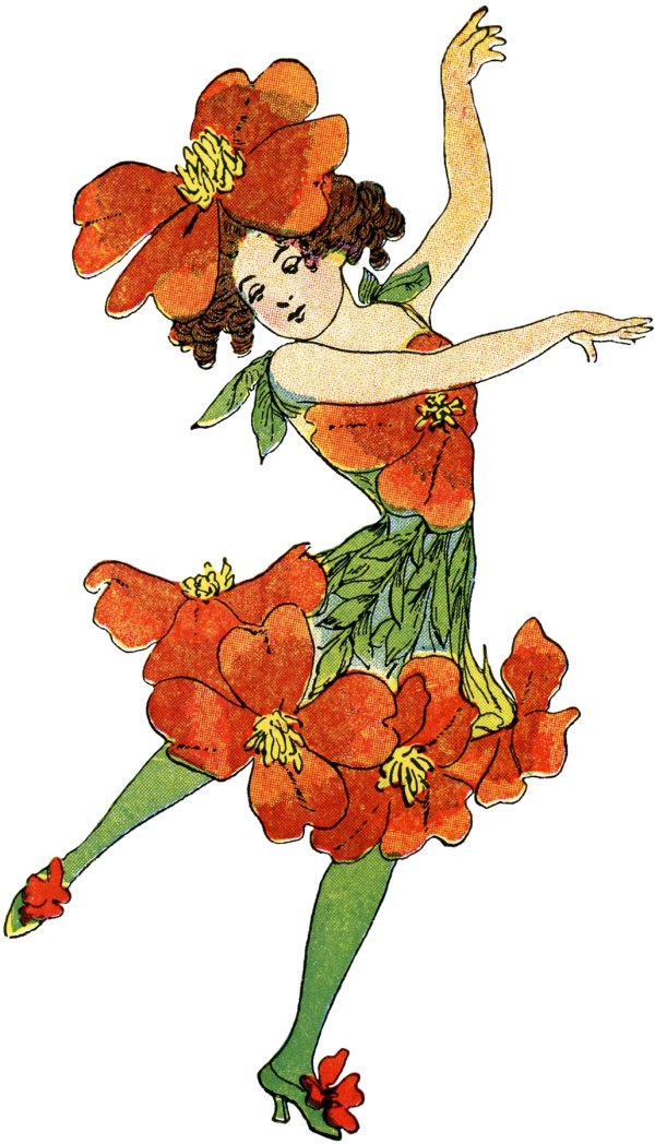 Vintage Flower Fairy Clip Art