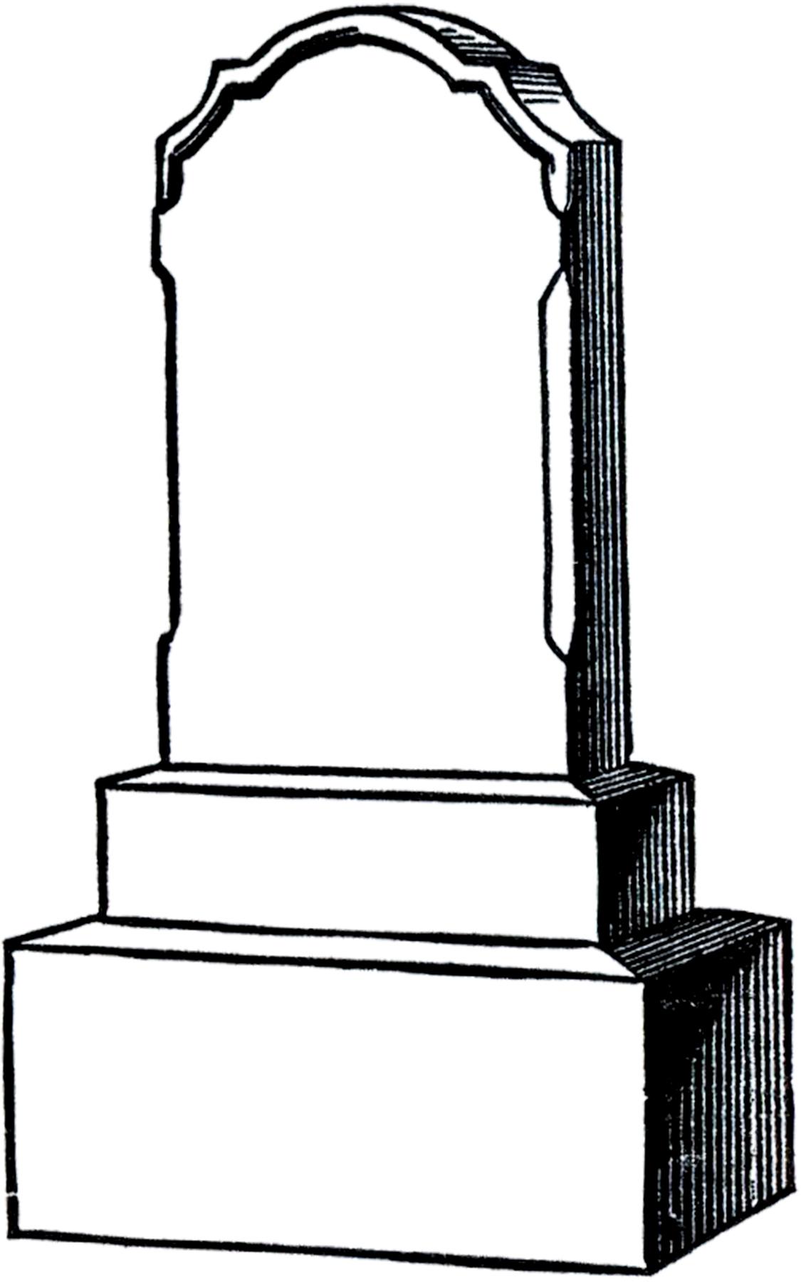 Free Vintage Gravestone Clip Art