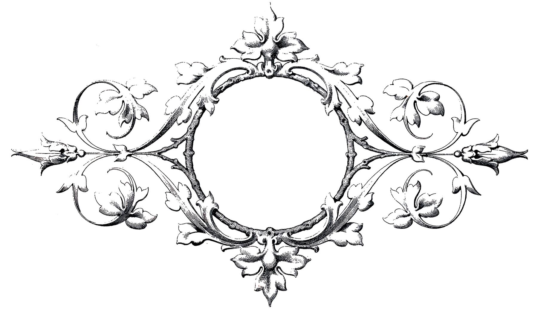 Stunning Scrolls Frame Image