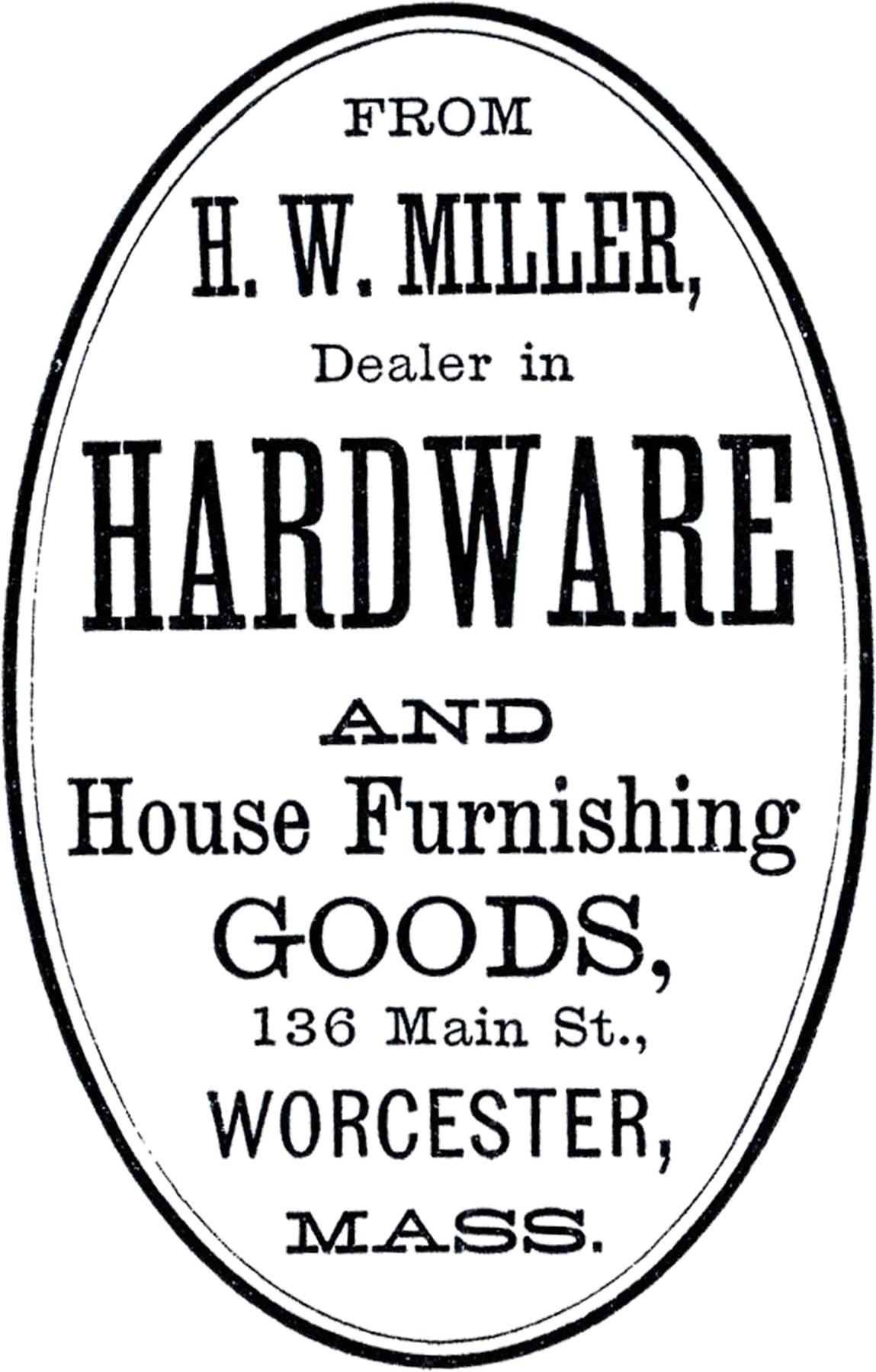 Cute Vintage Hardware Label
