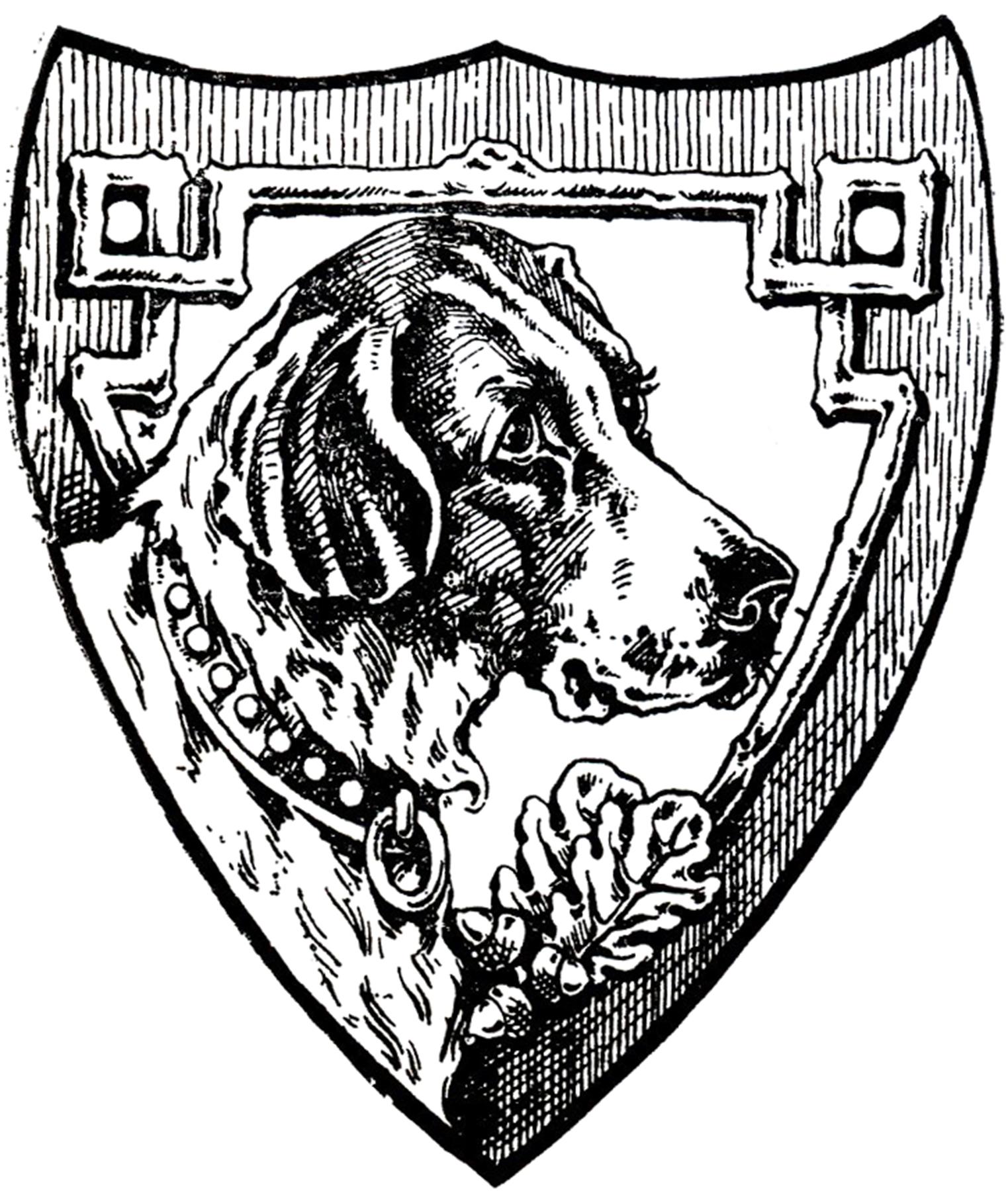 Vintage Dog Shield Image